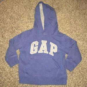 Warm GAP blue hoodie with kangaroo pouch pocket